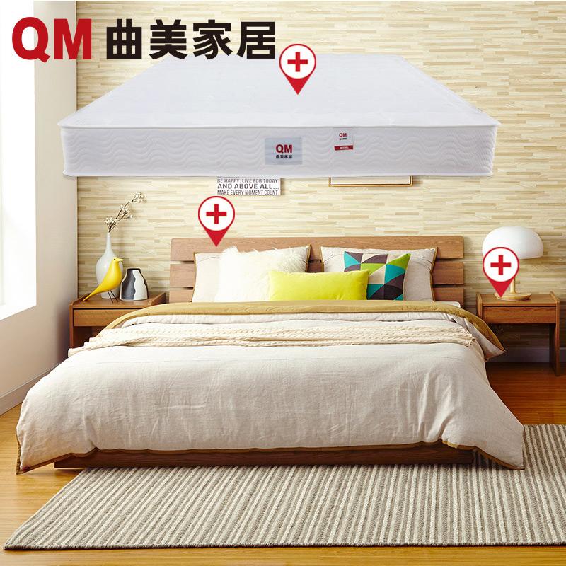Цвет: Глубокий цвет дуба кровать+тумбочка*2+матрас