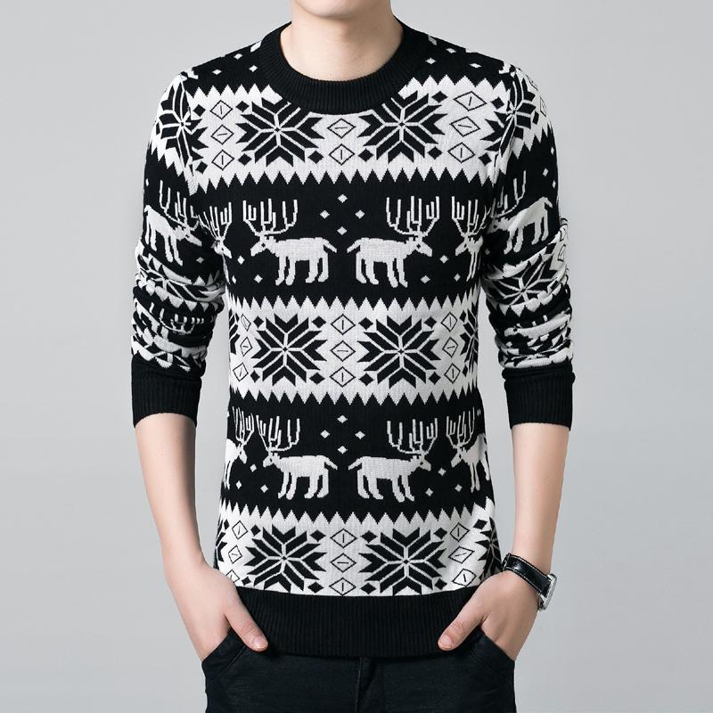 Свитер мужской Others 550754 Men Sweaters Vintage Crew Neck Sweatshirts Wool Clothing