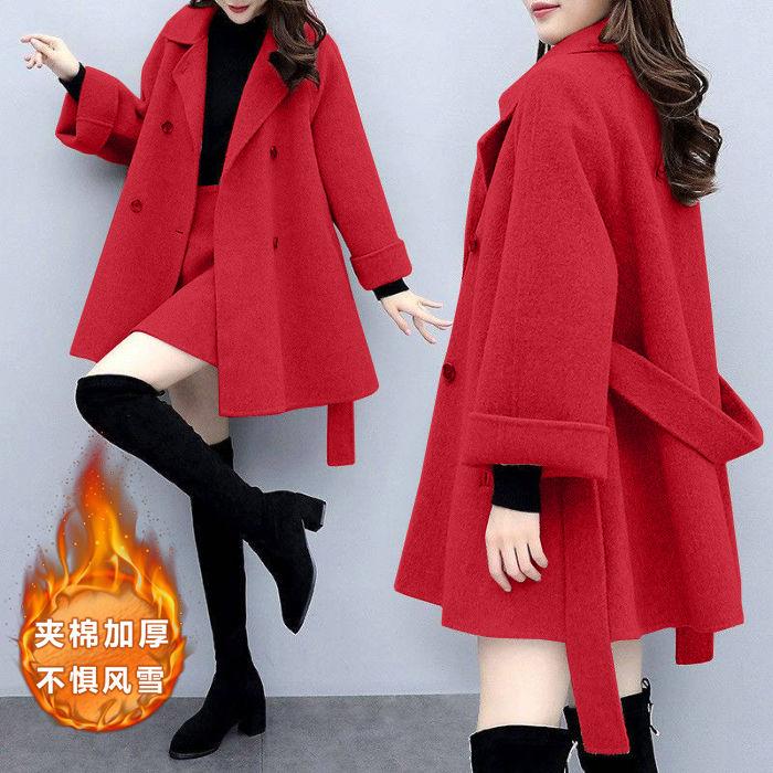 2020秋冬气质名媛小香风两件套毛呢外套时尚短裙呢子半身裙套装女