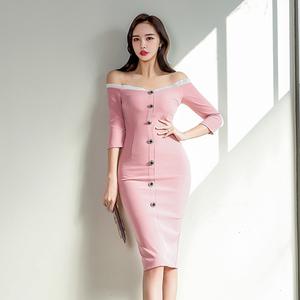 2099#【高档女装】马来西亚台湾女装衣服服装批发性感露肩一...