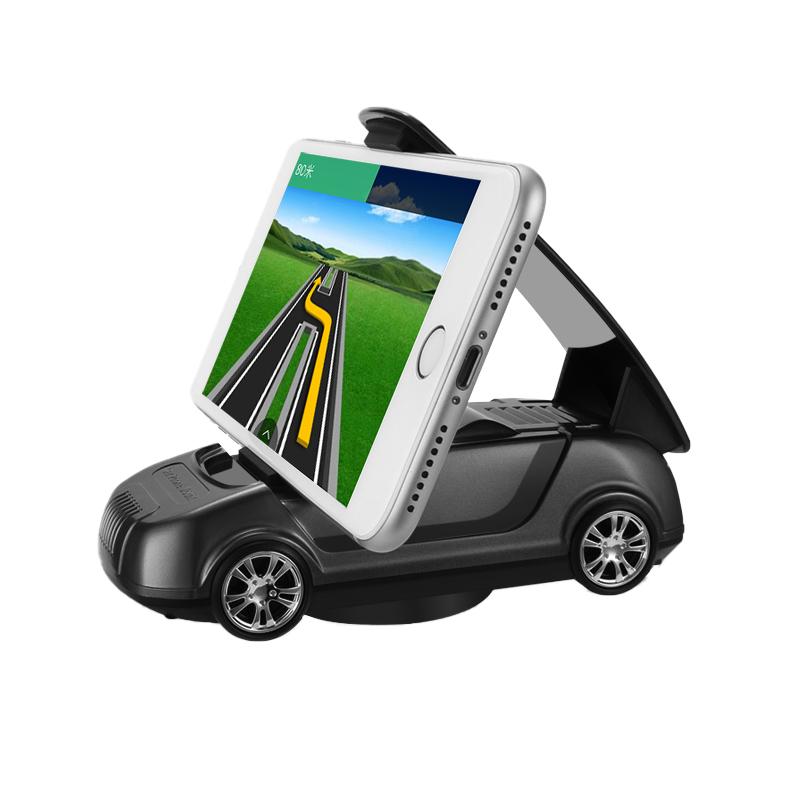 汽车手机车支架万能通用车载导航支架仪表台手机座车模摆件创意