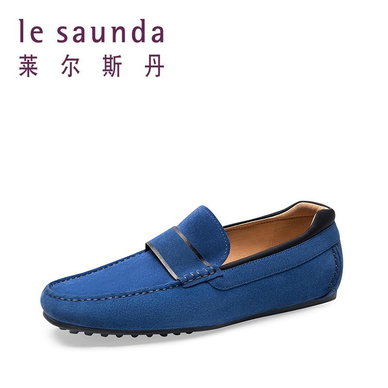 莱尔斯丹 2018春新款休闲舒适套脚男鞋豆豆鞋 9MM87302