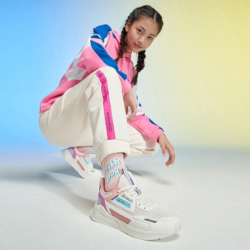 361女鞋运动鞋2021春季新款厚底百搭休闲鞋361度潮流轻便鞋子女士