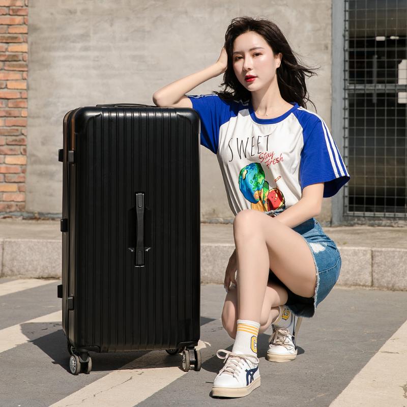 简尼奥32寸大容量密码拉杆箱加厚拉链ins网红旅行箱行李箱运动款