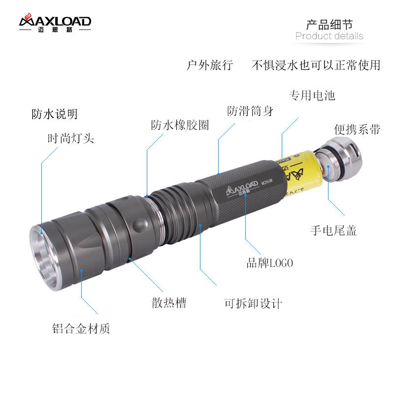手电筒强光充电超亮多功能防水远射5000特种兵迷你户外家用小手电