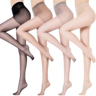 丝袜女薄款防勾丝夏季超薄连裤袜长筒隐形黑肉色打底袜春秋菠萝袜