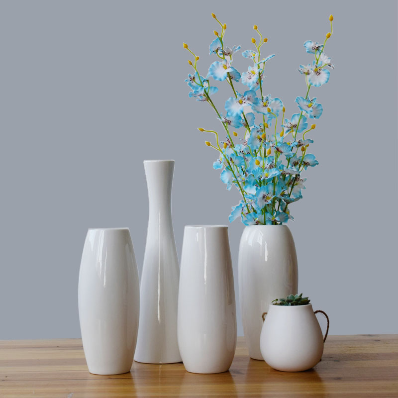 Full of sense of Nordic style! Very joker Nordic white ceramic vase furnishing articles sitting room decoration simulation