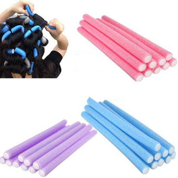 1pack 10Pcs Hair Rollers Curler Makers Soft Twist Curls Wome