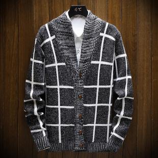 2020针织衫男士长袖t恤春秋新款毛衣开衫男韩版修身薄款外套潮