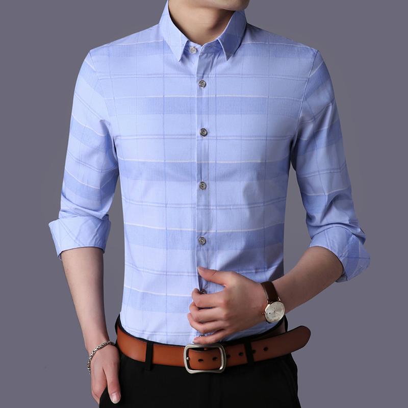 男士长袖衬衫2018新款夏季衬衫纯色韩版帅气休闲潮流薄款长袖潮男