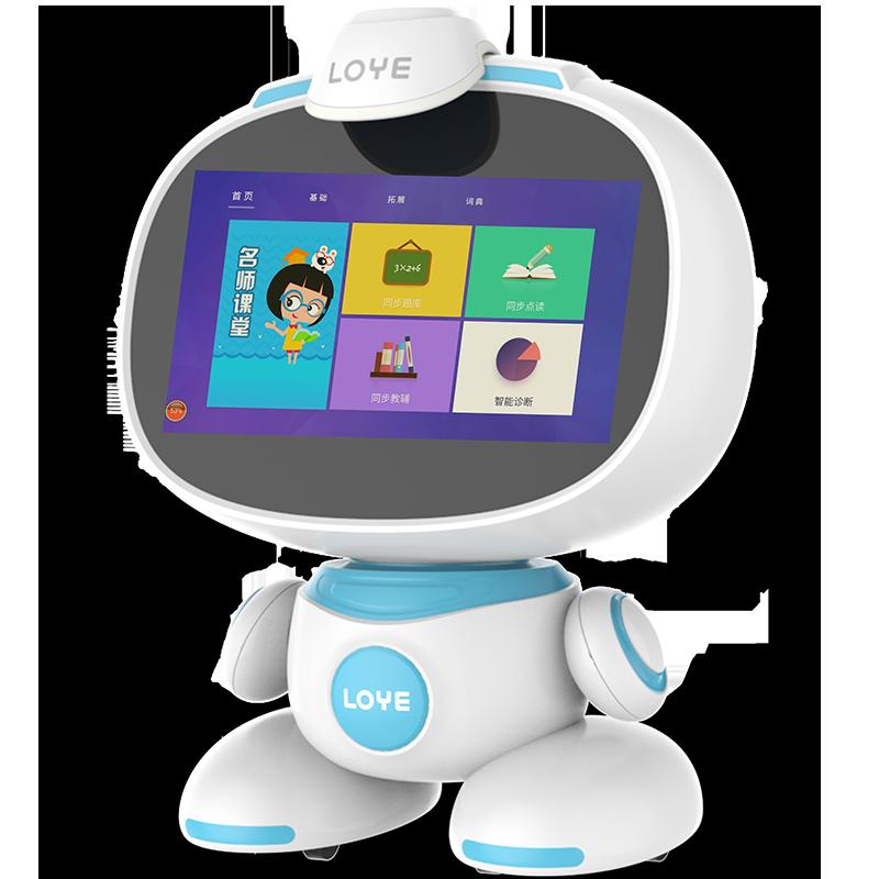 乐源LOYE儿童智能教育机器人wifi触屏早教语音对话多功能学习陪伴