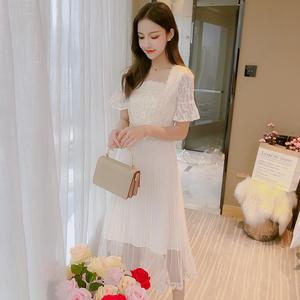 马来西亚台湾新加坡泰国越南女装服装衣服批发短袖蕾丝连衣裙