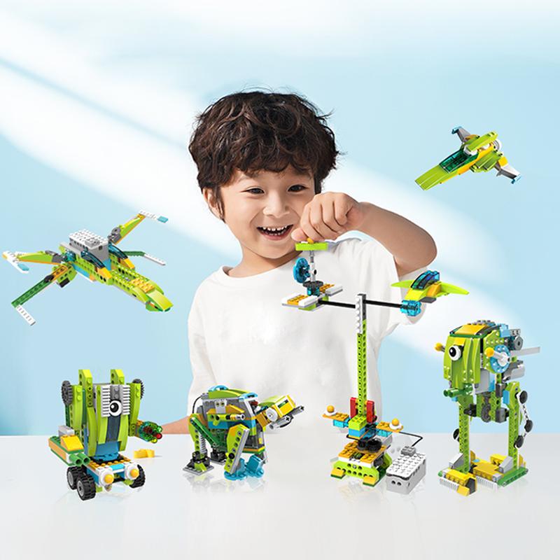 途道太空探险电动机器人儿童拼装积木玩具