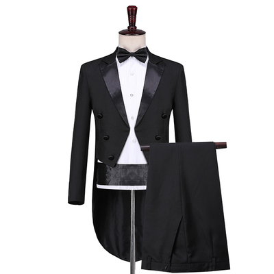 Men's Tuxedo Tuxedo Magic Performance Conductor Costume Artist's Performance Jazz Suit Dance Competition