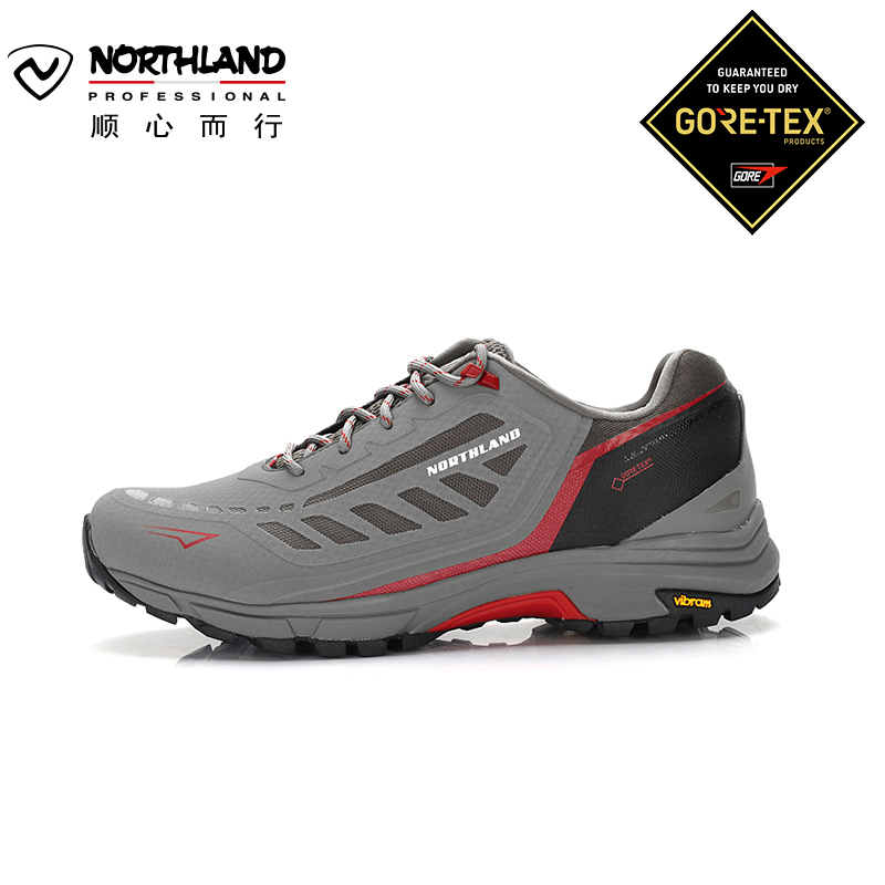 诺诗兰秋冬户外男士GORE-TEX防水透气防滑耐磨低帮徒步鞋FH995575