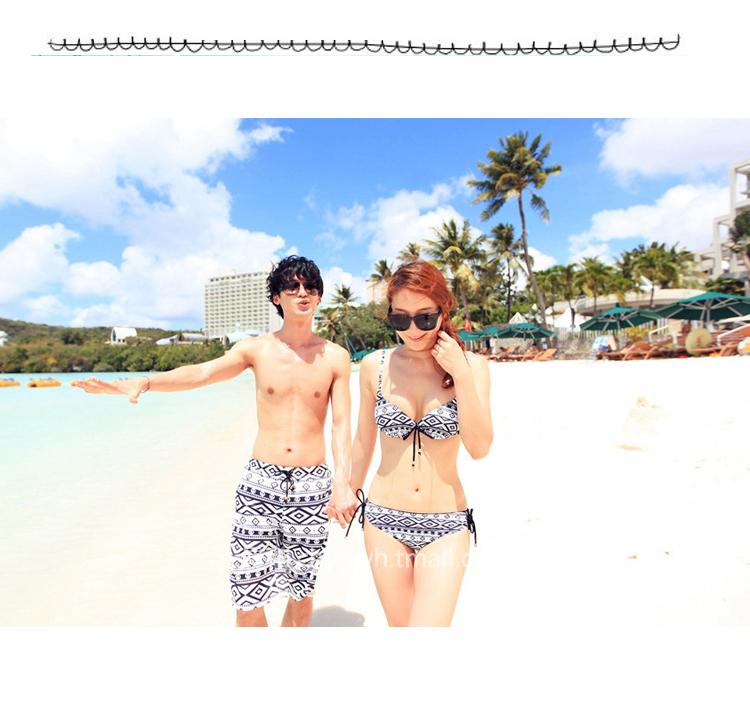 两件包邮 沙滩情侣装巴厘岛海边旅游度假沙滩裤男女t恤沙滩裙套装