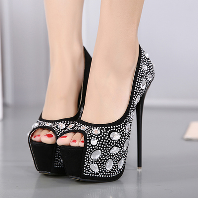 Diamond shoes, Women high heels, Platform& Peeptoe Pumps's main photo
