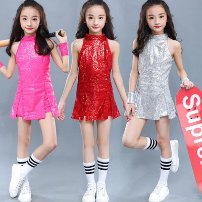 Children's performance Jazz dress girls'modern hip-hop dress sequins CHEERLEADING SKIRT kindergarten Costume