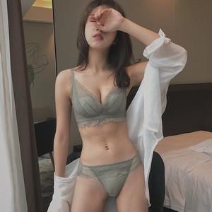 薄款内衣女调整型内裤文胸无钢圈小胸聚拢性感蕾丝胸罩舒适夏季