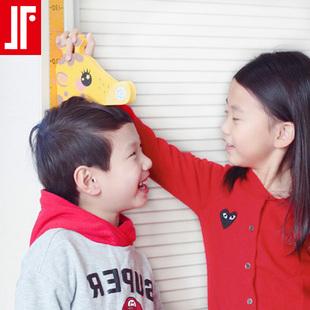 身高贴纸儿童房间装饰宝宝测量身高墙贴可移除3d立体背景墙画布置
