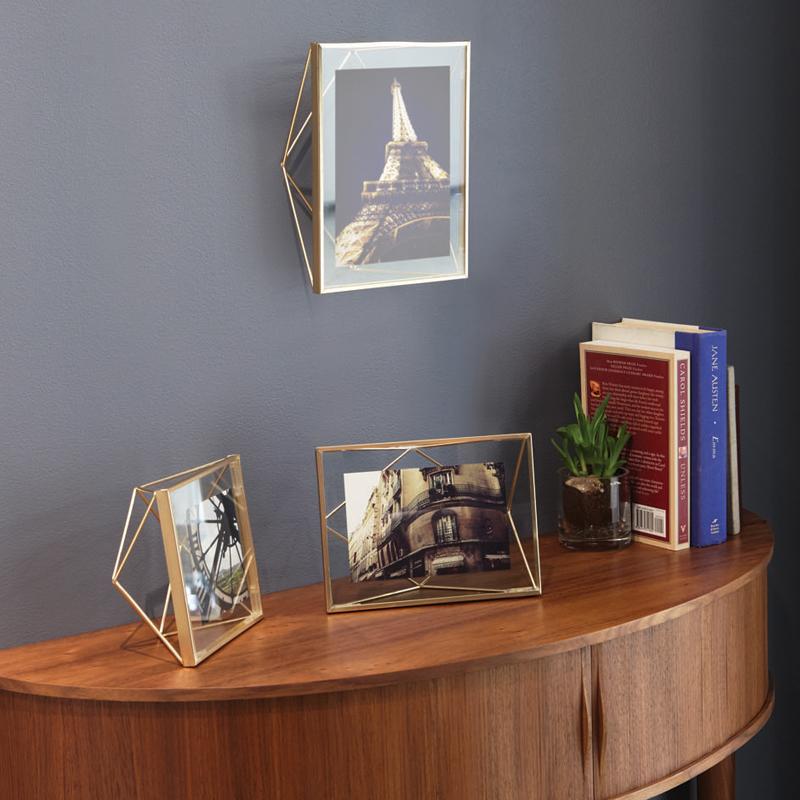 umbra创意立体棱形相框现代欧式玻璃画框金属不图片