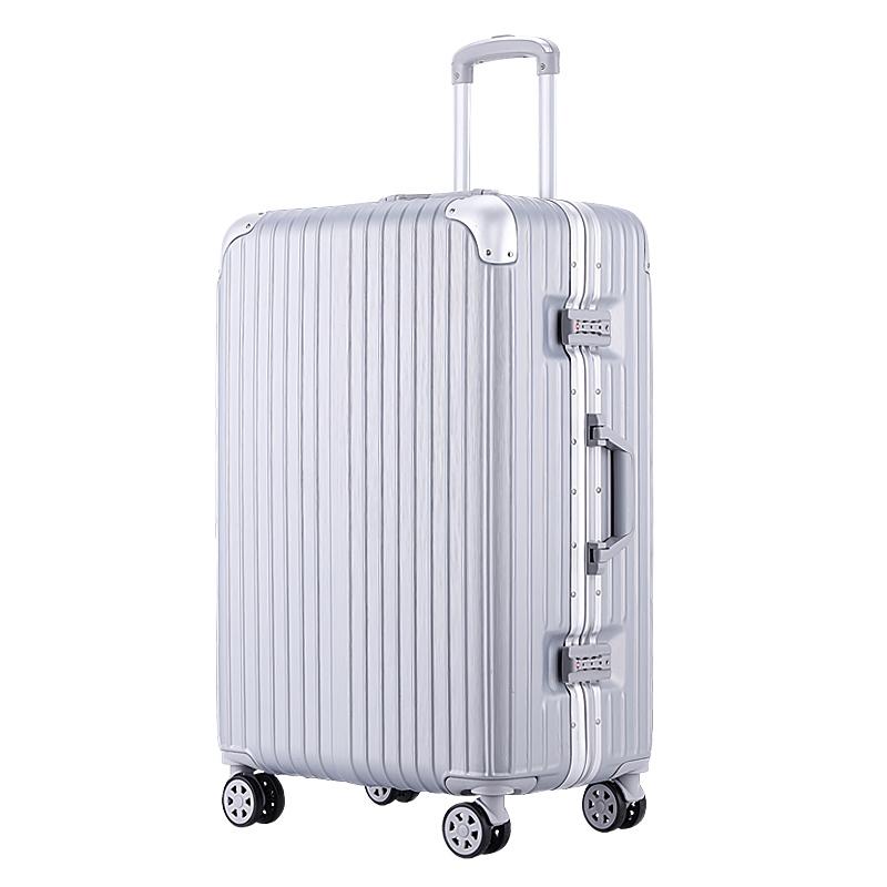 行李箱女铝框万向轮韩版密码箱旅行箱皮箱子20寸24学生拉杆箱男