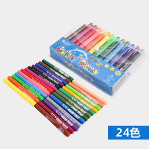 阳光天使水彩笔12色24色儿童水溶彩画笔可洗墨水加大容量锥型笔头