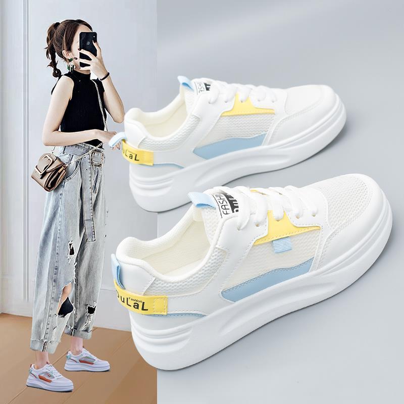 肯梵图网面透气小白鞋女夏季薄款2021新款女鞋学生爆款网鞋女ins