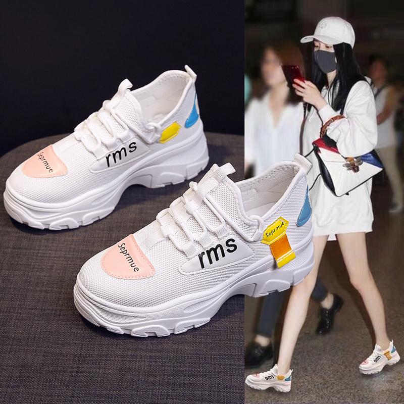 网红超火老爹鞋女ins潮小白鞋韩版学生运动鞋2019秋季百搭松糕鞋