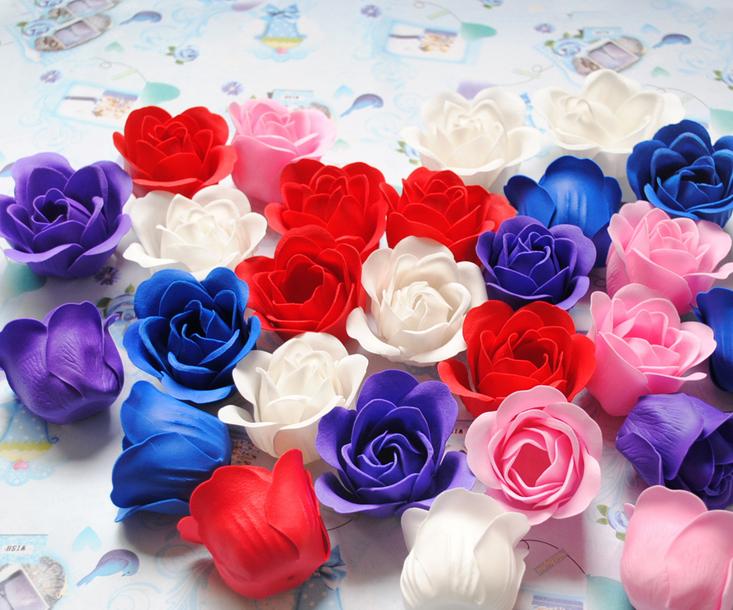 厂家批发香皂花玫瑰花头花束鲜花创意礼品情人节玫瑰礼盒专用花头