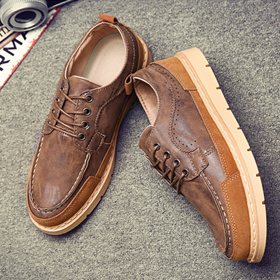 Spring wild British tide shoes men's retro Bullock men's shoes youth men's casual shoes breathable shoes