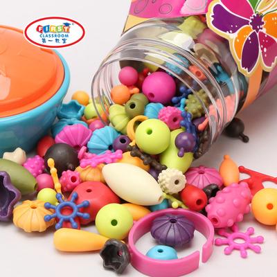 3-6岁创意串珠玩具礼物儿童手工DIY益智拼插女孩无绳波普串珠穿珠