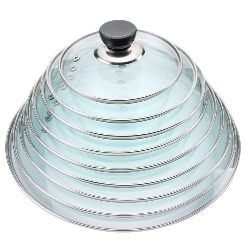 鍋蓋鉄化ガラスカバー家庭用透明小蓋通用金炒め鍋の乳鍋の取っ手電磁炉,タオバオ代行-代行奈々