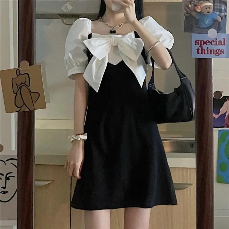 2021小众连衣裙设计感夏新款甜美初恋裙显瘦泡泡袖裙子女