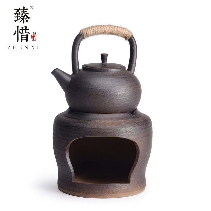 Become the precious little hand by hand throwing ceramic teapot teacup small pot of boiled water kung fu tea set household contracted