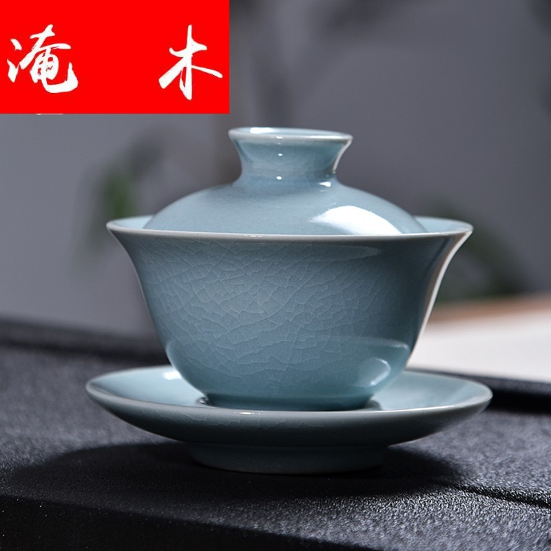 Submerged wood gode ceramic tureen large brother your up up up with three cups to make tea bowl, kung fu tea set