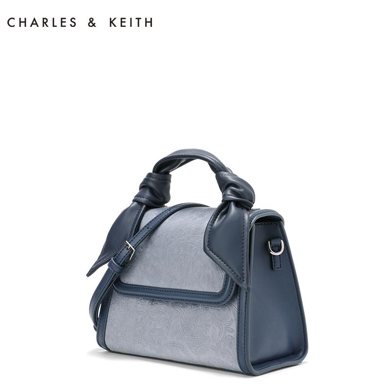 CHARLES&KEITH新品单肩包SL2-50780739欧美扭结装饰女士手提包