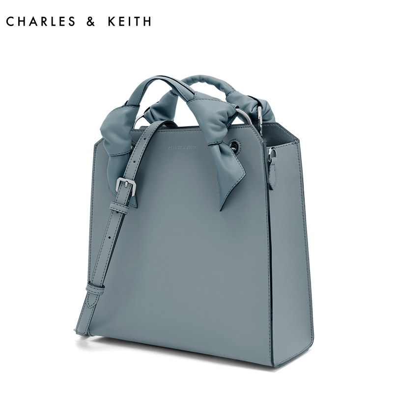 CHARLES&KEITH单肩包CK2-50780559绑结饰大容量手提手拎包