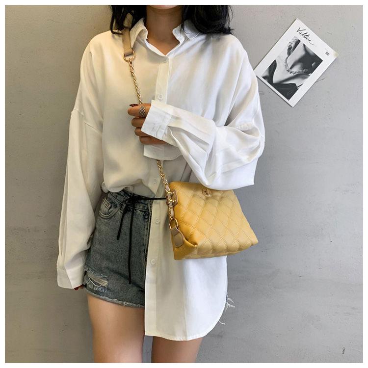 小香风女包单肩小包斜挎高级感菱格链条包