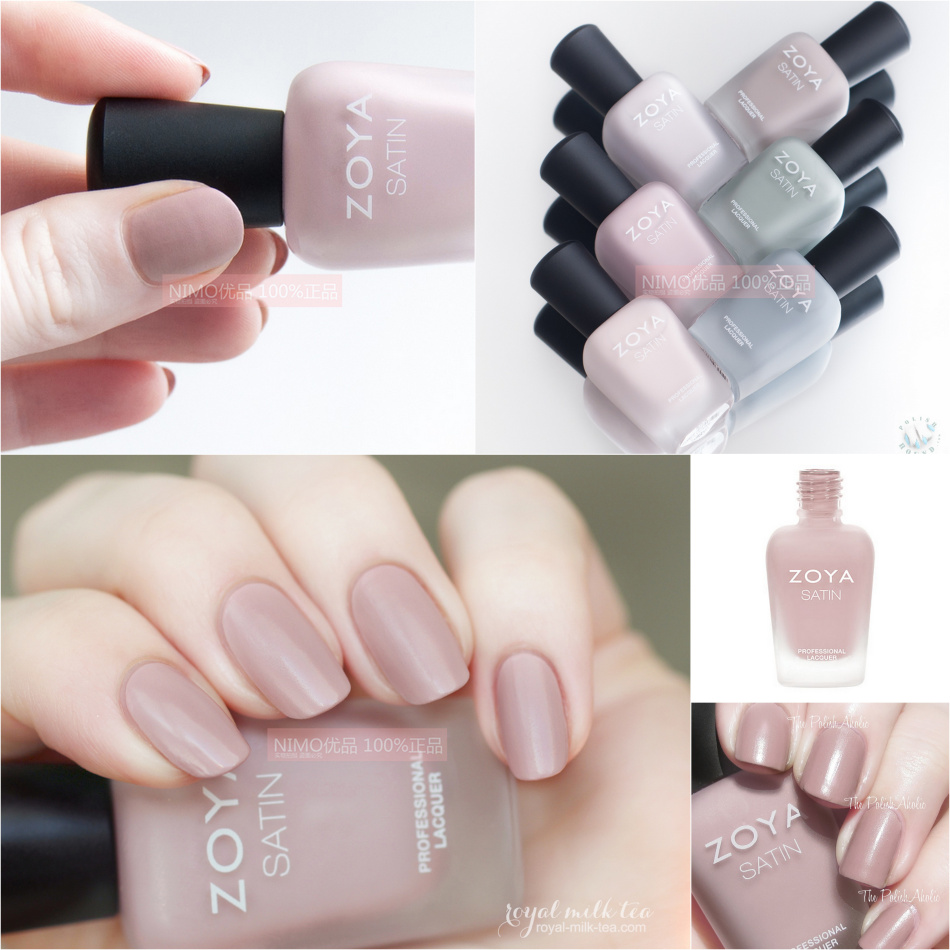 American ZOYA Nail Polish Velvet Matte Net Red Bean Sand Matcha Green Fairy Nude Color