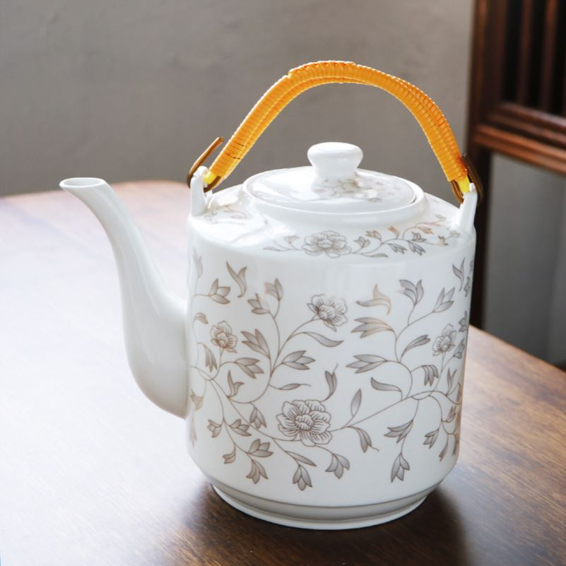 Large capacity of jingdezhen ceramic kettle suit high - temperature household explosion - proof cool blue cold water Large kettle