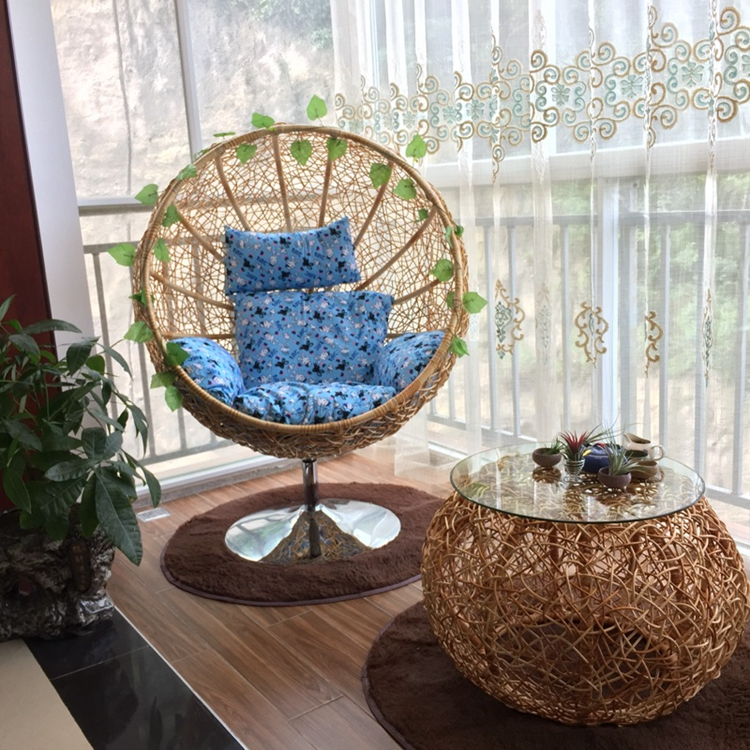 Real Rattan Chair Balcony Nest Basket Swing Chair Indonesia Natural Rattan  Rocking Chair Indoor Real Rattan Chair Hanging Chair