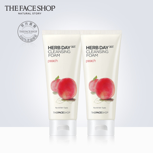 The Face Shop 洗面奶 水蜜桃泡沫洁面膏2支装 清洁 正品