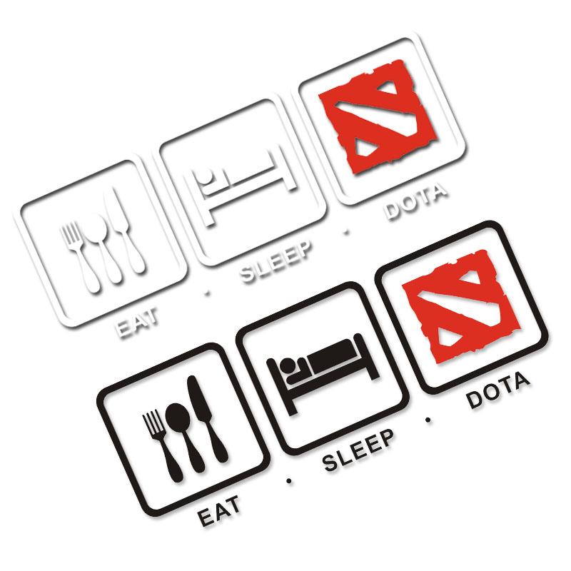 包邮吃饭 睡觉 玩dota2 骨灰级玩家 刀塔联盟 电竞游戏 汽车贴纸