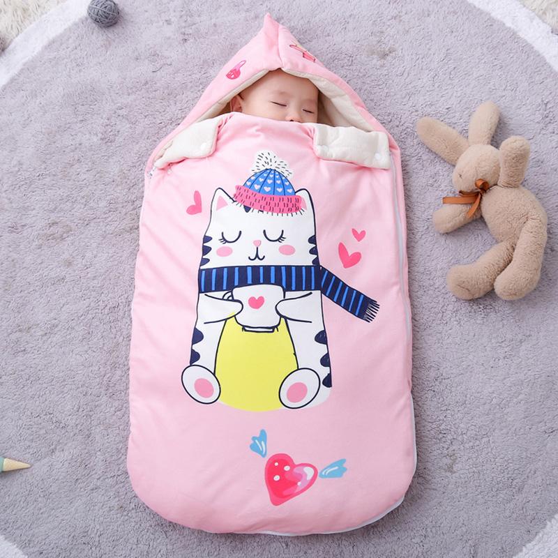 秋冬加厚婴儿睡袋防踢被两用