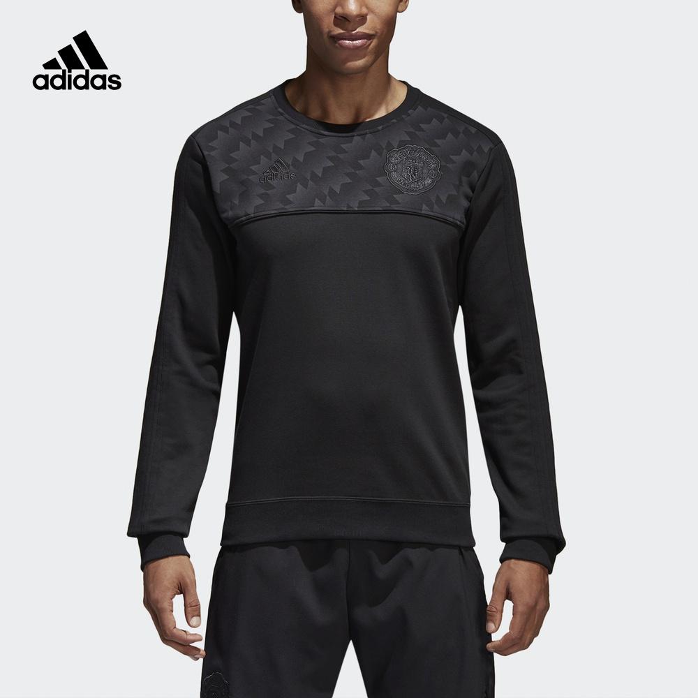 阿迪达斯adidas 官方 足球 男子 曼联 足球长袖上装 黑 BQ2243