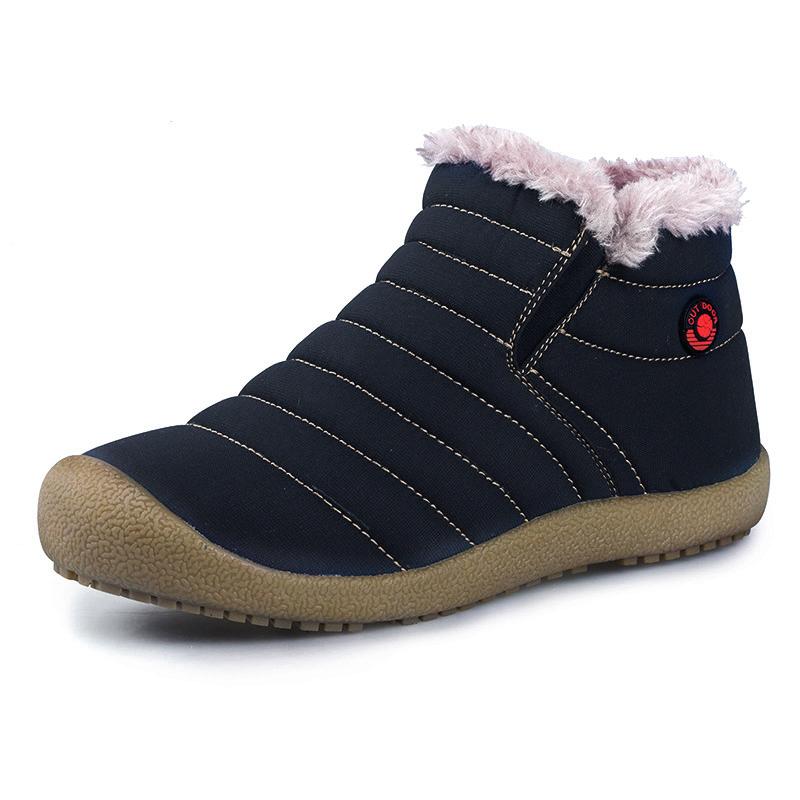 雪地靴男2017短筒冬季马丁靴棉鞋男加绒保暖棉靴短靴防水棉布男靴