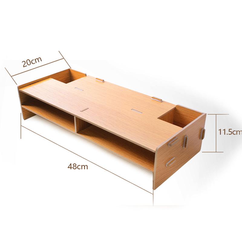 酷奇电脑显示器增高架 台式机屏幕底座 桌面整理升降收纳支架木托