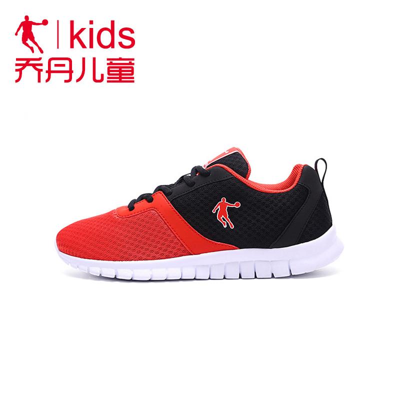乔丹男童鞋跑步鞋中大童网面透气儿童软底运动鞋男儿童跑鞋