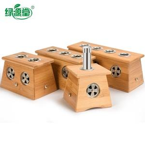 竹制艾炙熏艾草艾条木制艾灸盒随身灸家用宫寒木质熏蒸仪器便携式
